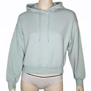 Garage Hoodie Soft Pullover Fleece Crop Sweater